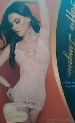 Vestido Arrastão Yaffa Yf 1073b-white