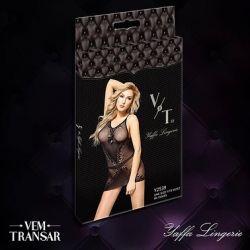 YAFFA LINGERIE BY VEM TRANSAR - VESTIDO SEM COSTURA EM MICROFIBRA | COR: PRETO