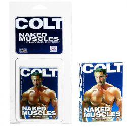 Baralho com Ilustrações de Homens - Colt Naked Muscle Playing Cards - California Exotic