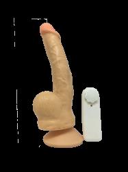 1021CSP4-Pênis c/escroto em CYBER e bullet- 21x4cm