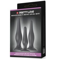 Kit com 3 Plug Anal - Pretty Love