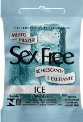 PRESERVATIVO SEX FREE ICE 3 UNIDADES