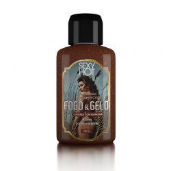 Óleo para massagem beijável FOGO E GELO - Catuaba com Guaraná - 38ml