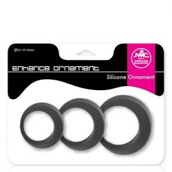 Kit Anéis Penianos em Silicone - Enhance Ornament - Nanma
