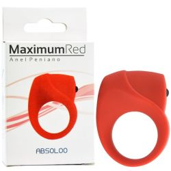 Anel Peniano em Silicone Premium - Maximum Red - Absoloo