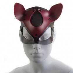 Máscara Gato Vermelha e Preta - Coleção Fetiche Lovetoys