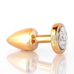 Plug LESS P Dourado com Pedra Cravejada - P