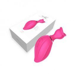 Estimulador clitoriano com sucção 8 intensidades rosa - Lip Love
