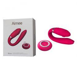 AIMEE - Vibrador com Controle Wireless Recarregável USB